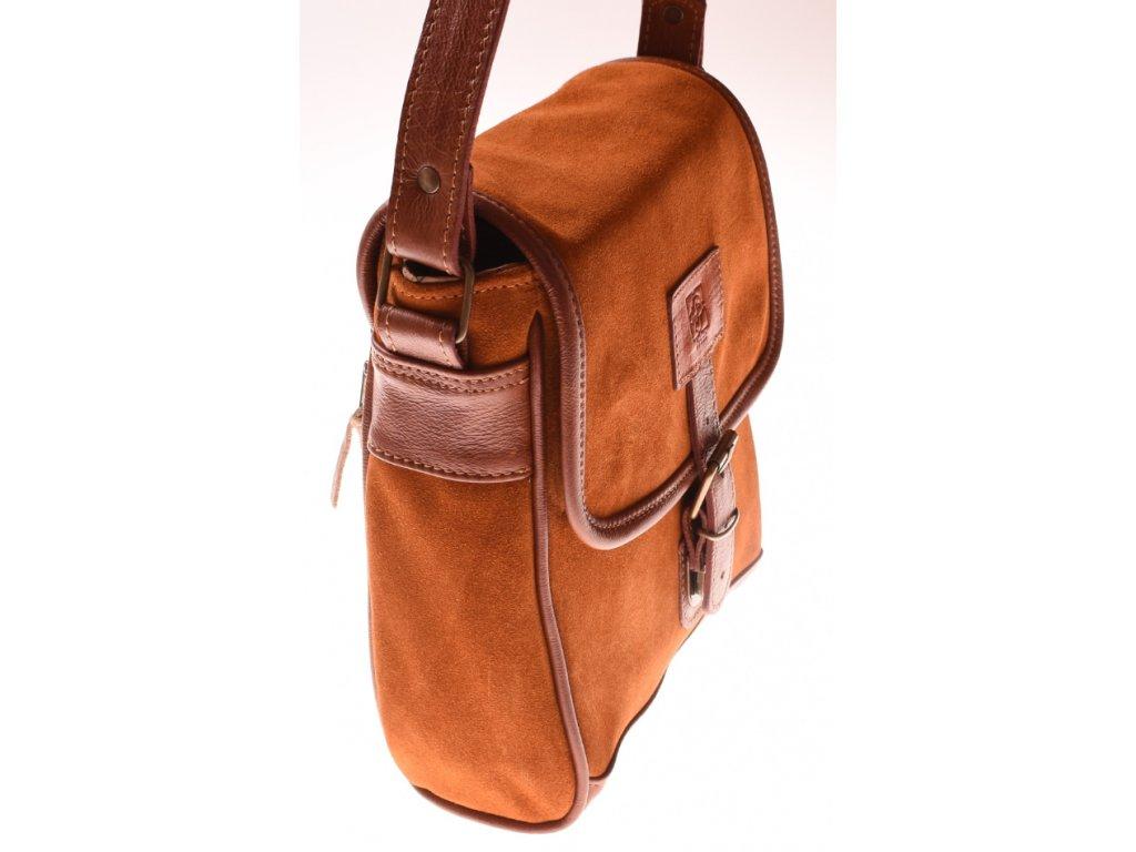 pánská hnědá kožená brašna taška přes rameno český výrobek Kubát 573443