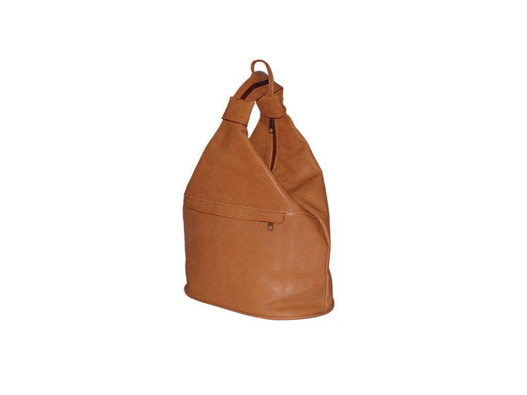 malý dámský rezavohnědý kožený vak Gábina kabelka přes rameno český výrobek Kubát 20951