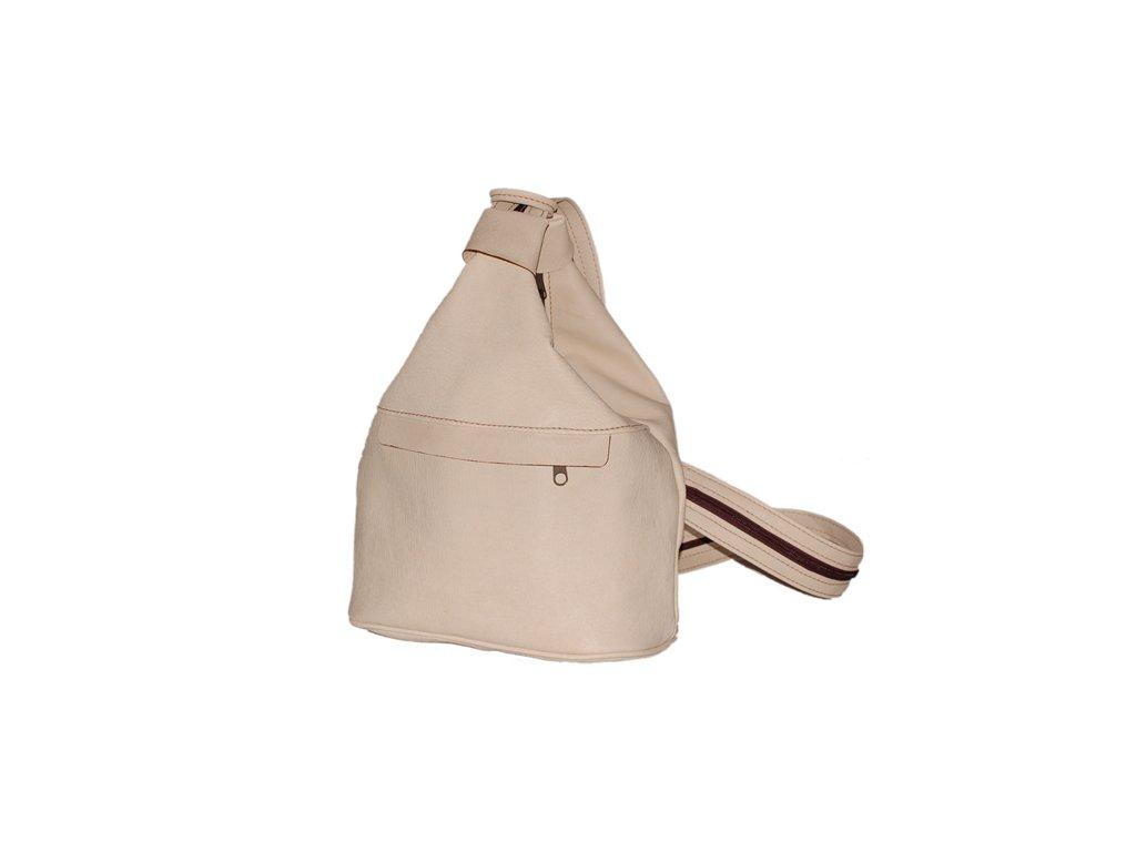 malý dámský světle béžový kožený vak Gábina kabelka přes rameno český výrobek Kubát 20991