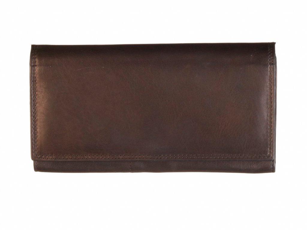 dámská černá kožená peněženka český výrobek Kubát 71112