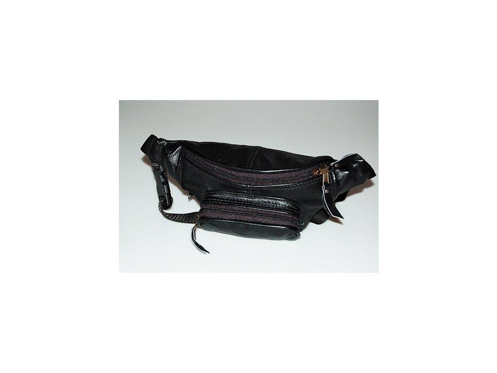 černá kožená ledvinka z přírodní kůže český výrobek Kubát 31012
