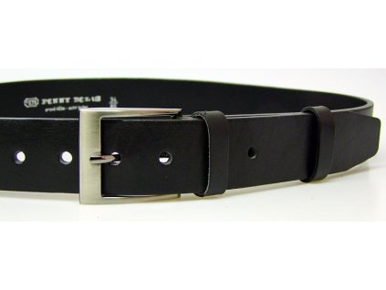 pánský černý kožený opasek český výrobek Kubát 60012 22-60