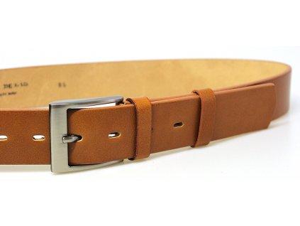 pánský rezavý kožený opasek český výrobek Kubát 60052 22-42