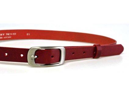 dámský červený kožený opasek český výrobek Kubát 60032- 173-93