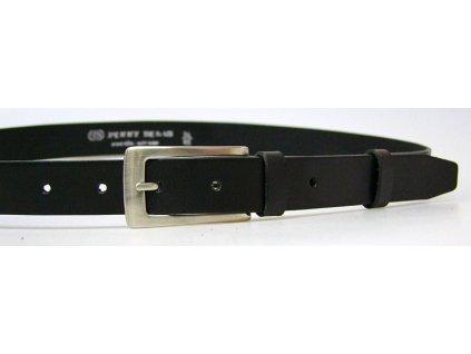 dámský černý kožený opasek český výrobek Kubát 60062- 176-63