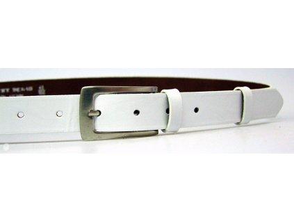 dámský bílý kožený opasek český výrobek Kubát 60062- 176-00