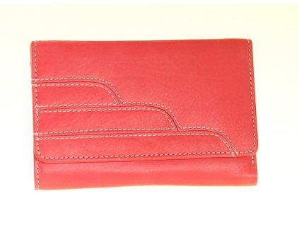 dámská kožená peněženka červená 71662 A