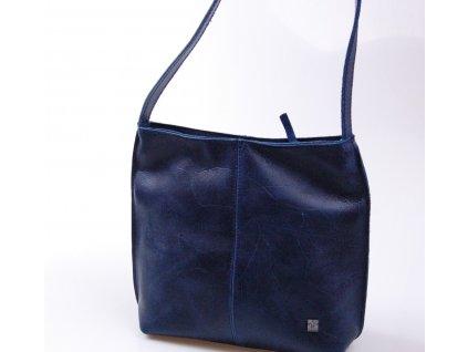 modrá dámská kožená kabelka Fiala 518662 A