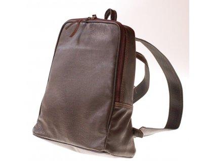 batoh kožený hnědý Rio hladké 21934