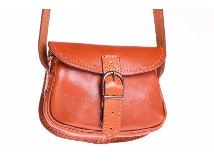 malá rezavá kožená kabelka dámská crossbody český výrobek Kubát 11252