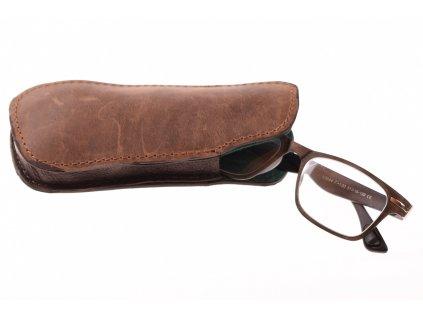 kožené klasické pouzdro na brýle 416332 1