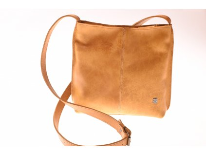 žlutá dámská kožená kabelka přes rameno česká výroba Kubát kůže Fiala 51892