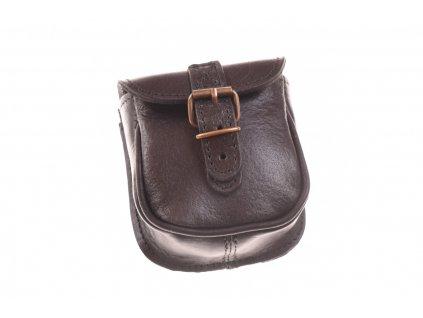 černá kožená kapsa na opasek  30112