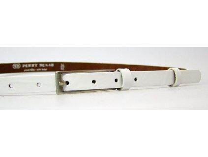 dámský bílý kožený opasek český výrobek Kubát 60062-0102