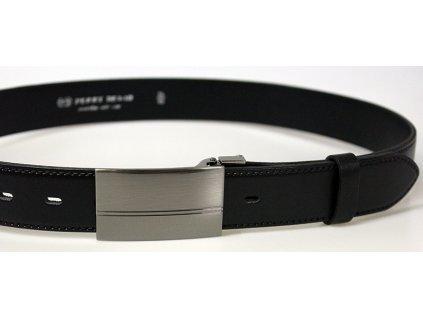 pánský černý kožený společenský opasek český výrobek Kubát 60035-020-PS1-60