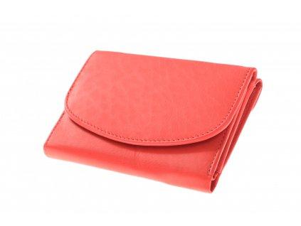 Dámská kožená červená peněženka kulatá klopa 750062 (4)
