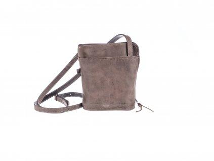 malá hnědá kabelka kožená s kapsami dámská český výrobek Kubát 145332