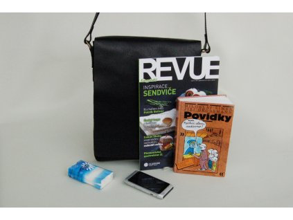 černá kožená pánská dámská taška přes rameno Helimann český výrobek Kubát 56414