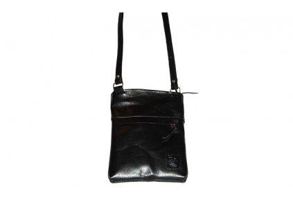 malá černá kožená kabelka dámská crossbody univerzální Heliman český výrobek Kubát 56914
