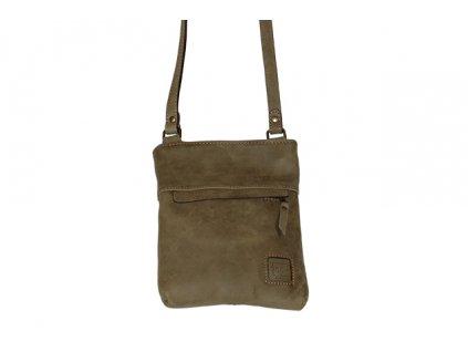 malá olivová kožená kabelka dámská crossbody univerzální Heliman český výrobek Kubát 56982