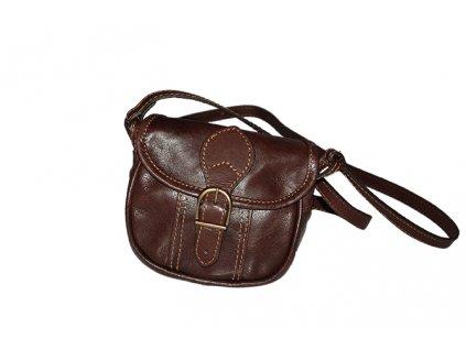malá hnědá kožená kabelka dámská crossbody český výrobek Kubát 10121