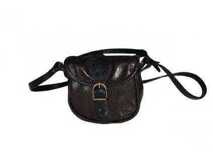 malá černá kožená kabelka dámská crossbody český výrobek Kubát 10111