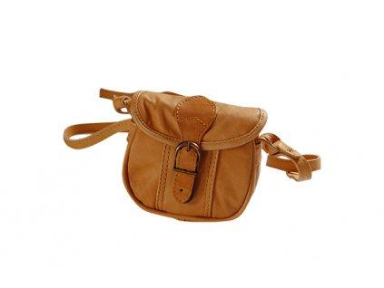 malá žlutá kožená kabelka dámská crossbody český výrobek Kubát 10192