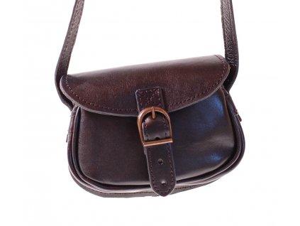 malá černá kožená kabelka dámská crossbody český výrobek Kubát 11212