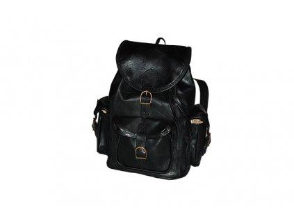 černý kožený batoh unisex tři kapsy český výrobek Kubát Speciál 20511