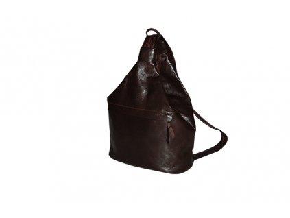 velký dámský hnědý kožený vak Gábina kabelka přes rameno český výrobek Kubát 21021