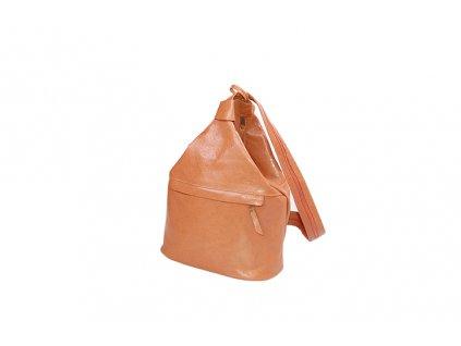 velký dámský rezavohnědý kožený vak Gábina kabelka přes rameno český výrobek Kubát 21051