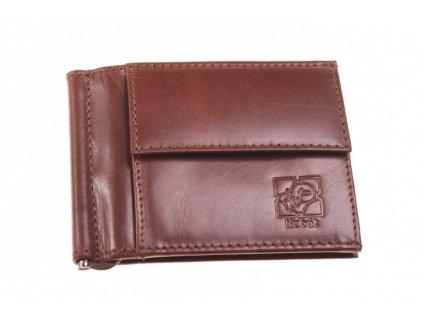 Kožená Dolarka peněženka hnědá 735942 1