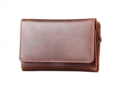 Dámská kožená hnědá peněženka 70742 1
