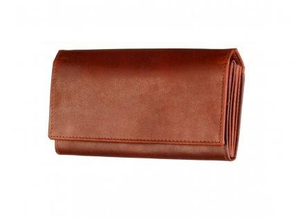 dámská hnědá kožená peněženka český výrobek Kubát 70542 1
