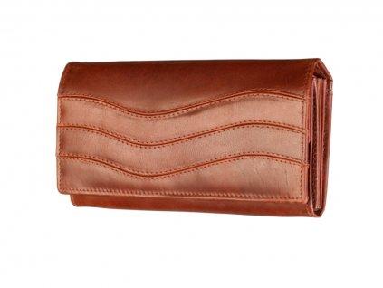 Dámská kožená hnědá peněženka 70642 1