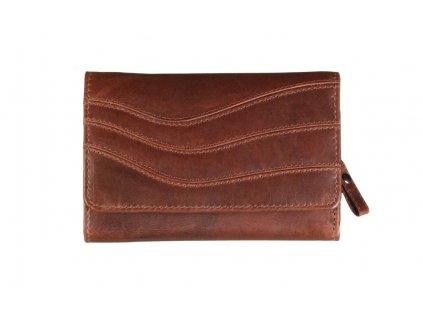 Dámská kožená hnědá peněženka 70842 1