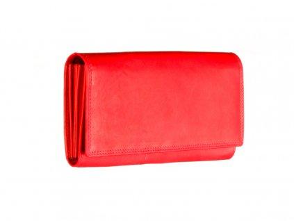 dámská červená kožená peněženka český výrobek Kubát 71262 1