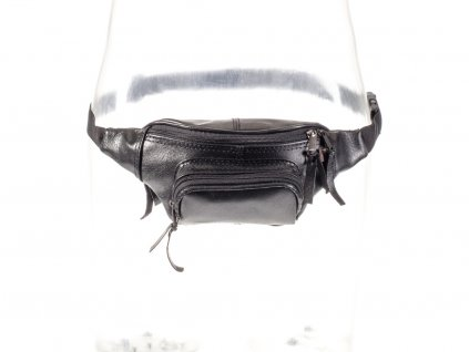 černá kožená ledvinka z přírodní kůže český výrobek Kubát 31011