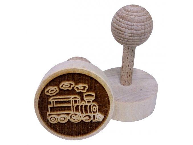 Dřevěné razítko na sušenky - mašinka