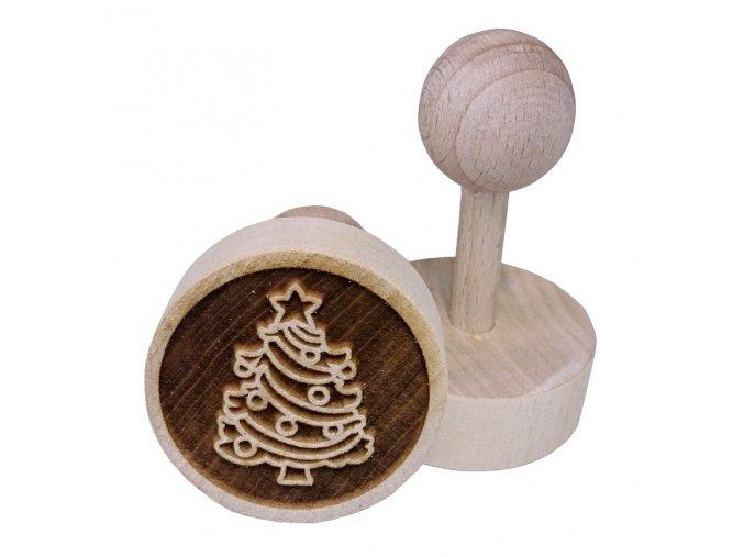 Dřevěné razítko na sušenky Stromeček