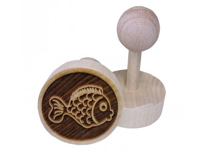 Dřevěné razítko na sušenky Ryba