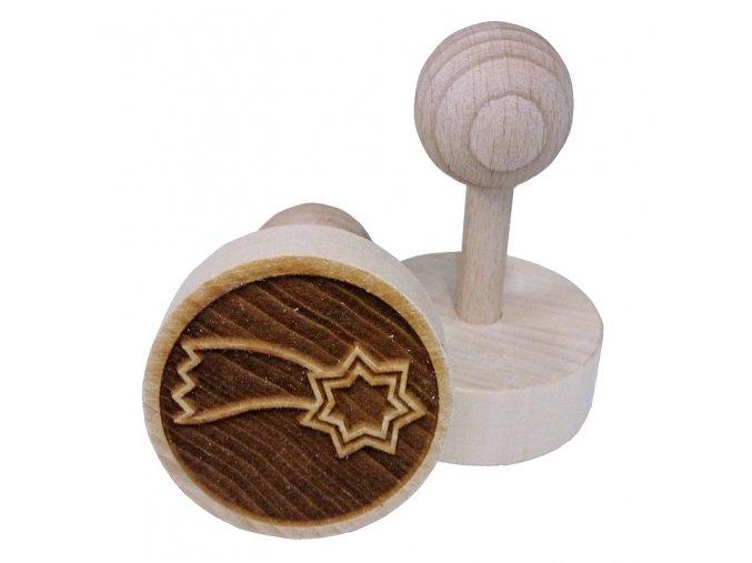 Dřevěné razítko na sušenky - kometa