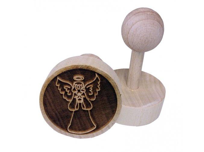 Dřevěné razítko na sušenky - anděl