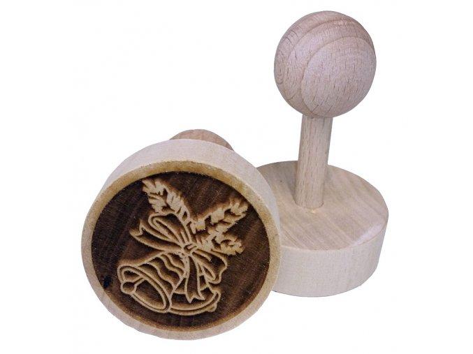 Dřevěné razítko na sušenky - zvoneček