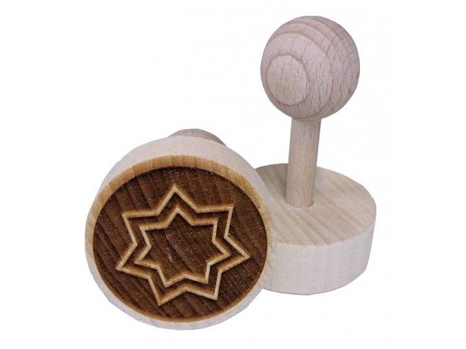 Dřevěné razítko na sušenky Hvězdička