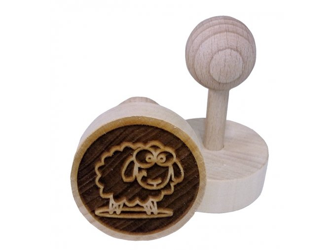 Dřevěné razítko na sušenky - ovečka