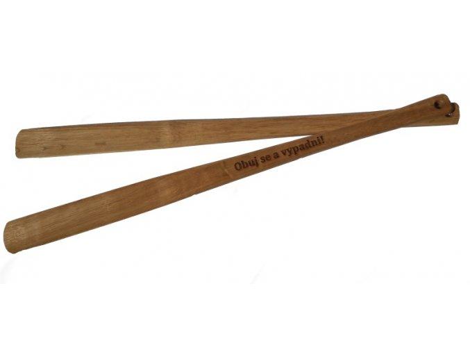 Obouvací lžíce dřevěná 60 cm