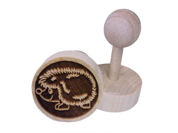 Dřevěné razítko na sušenky - ježek