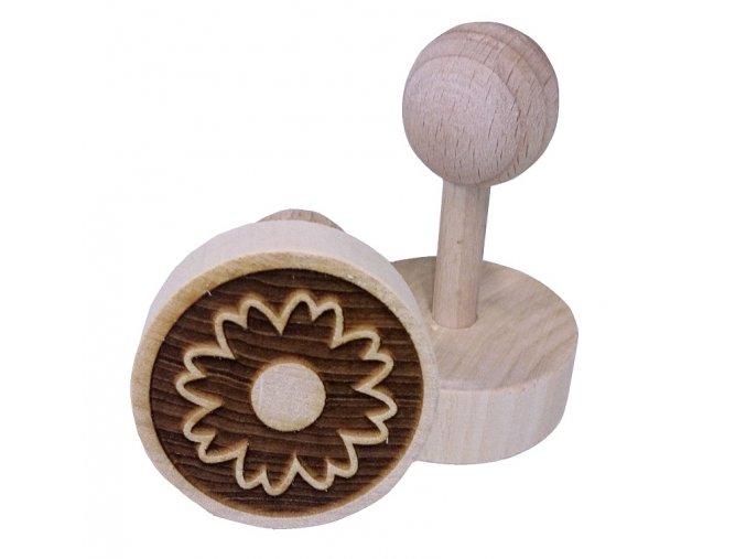 Dřevěné razítko na sušenky - kvítek II