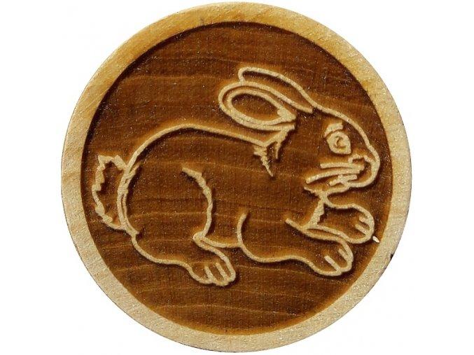 Dřevěné razítko na sušenky - zajíc